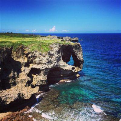 萬座毛是沖繩中部恩納村有名的景點