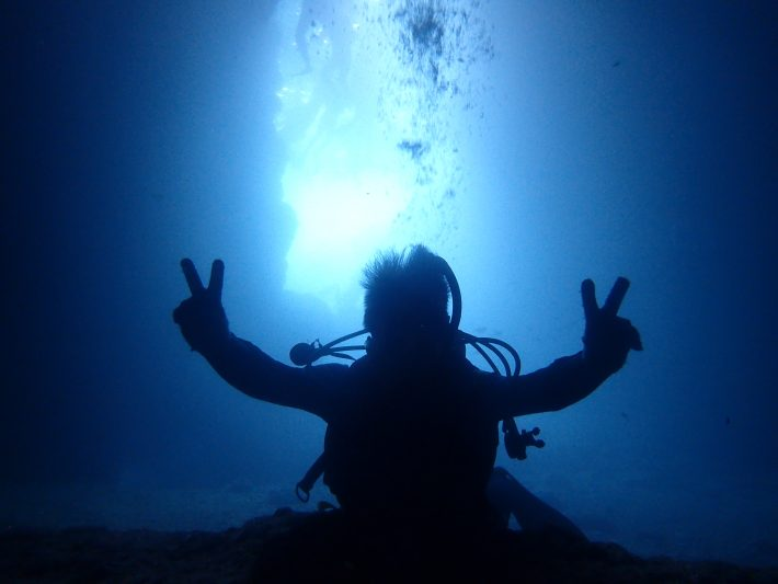 沖繩潛水青洞