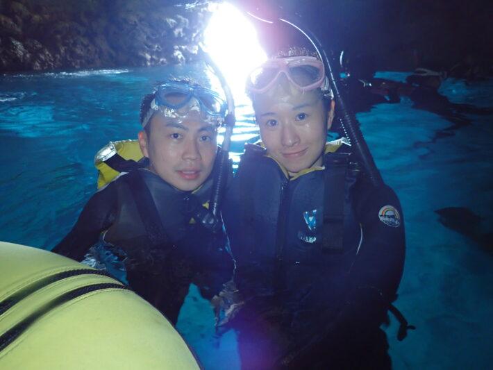 沖繩青洞 藍洞潛水 青之洞窟浮潛