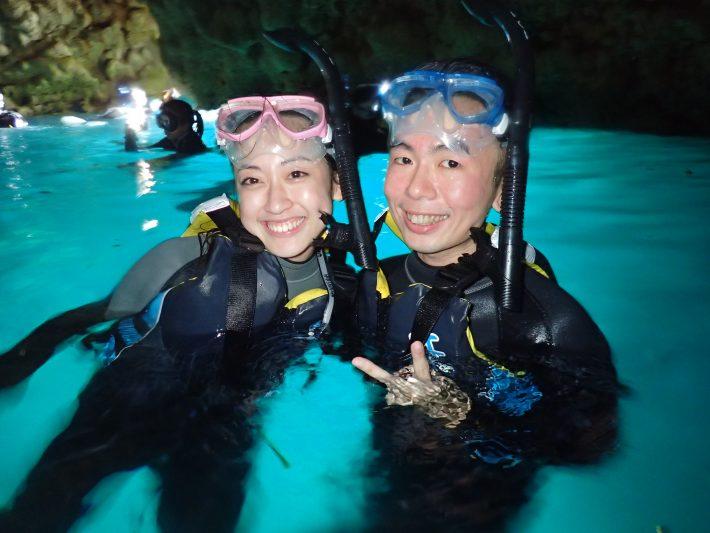 日本 沖繩 浮潛 青洞