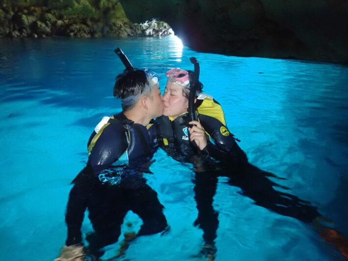 青洞浮潛 沖繩潛水 中文教練